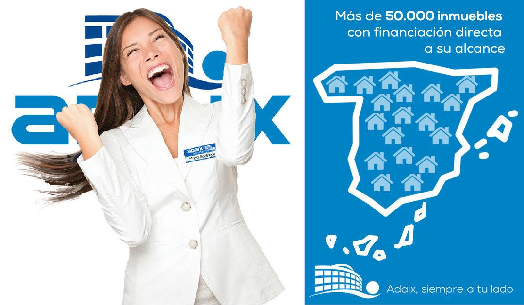 Adaix incorpora a su cartera más de 50.000 inmueble con financiación directa